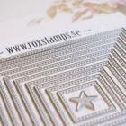 Rox stamps Dies - Cut & emboss – prickiga stygn fyrkantig