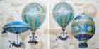 Servett Ballon Luftballonger Blå eller Röd