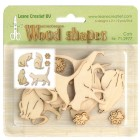 Leane Creatief Wood shapes - Cats