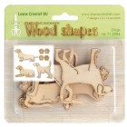 Leane Creatief Wood shapes - Dogs