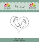 Dixi Craft - Clearstamp - Heart & Feets