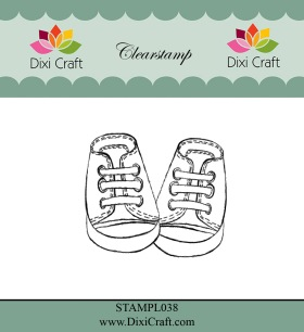 Dixi Craft - Clearstamp - Baby Shoes - Dixi Craft - Clearstamp - Baby Shoes