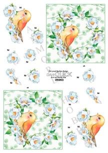 Dan-Quick 3D Klippark - Fågel i blomkrans - Dan-Quick 3D Klippark - Fågel i blomkrans