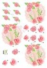 Dan design 3D Klippark - Fat m blommor & rulle