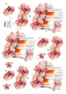 Dan design 3D Klippark - Blommor och ljus - Dan design 3D Klippark - Blommor och ljus