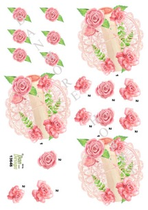 Dan design 3D Klippark - Fat m blommor & rulle - Dan design 3D Klippark - Fat m blommor & rulle