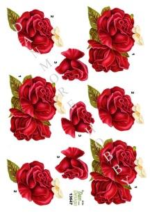 Dan design 3D Klippark - Röd ros - Dan design 3D Klippark - Röd ros