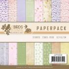 Jeaninés Art Pappersblock - Birds & Flowers