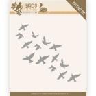 Jeanine´s Art - Dies - Birds & Flowers - Flock of Birds