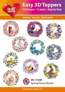Easy 3D Utstansat - Spring Flower Wreath - Easy 3D Utstansat - Spring Flower Wreath