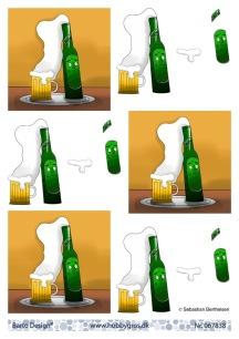Barto Design - 3D Klippark - Skummande öl - Barto Design - 3D Klippark - Skummande öl
