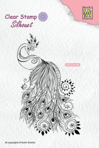 Nellie Snellen - Clearstamps - Peacock - Nellie Snellen - Clearstamps - Peacock