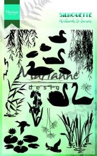 Marianne Design Clearstamps - Silhouette - Wetlands & Swans - Marianne Design Clearstamps - Silhouette - Wetlands & Swans