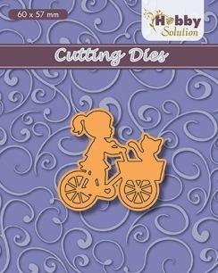 Nellie Snellen - Dies - Hobbysolution - Little girl on bike - Nellie Snellen - Dies - Hobbysolution - Little girl on bike