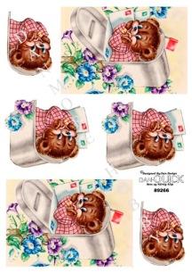 Dan-Quick 3D Klippark - Nalle i brevlåda - Dan-Quick 3D Klippark - Nalle i brevlåda