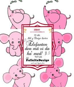 Felicita Design Toppers - Elefanten den må vi da ha med 3 - Felicita Design Toppers - Elefanten den må vi da ha med 3