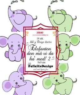 Felicita Design Toppers - Elefanten den må vi da ha med 2 - Felicita Design Toppers - Elefanten den må vi da ha med 2