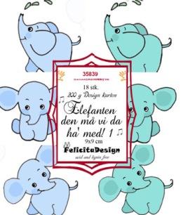 Felicita Design Toppers - Elefanten den må vi da ha med 1 - Felicita Design Toppers - Elefanten den må vi da ha med 1