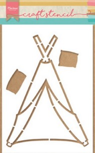 Marianne Design - Craft Stencil - Tipi - Marianne Design - Craft Stencil - Tipi