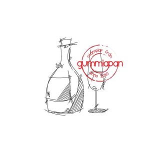 Gummiapan - Stämpel - Flaska och glas - Gummiapan - Stämpel - Flaska och glas