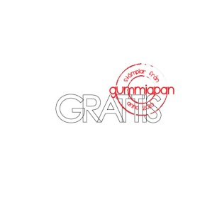 Gummiapan  - Stämpel - GRATTIS - Gummiapan  - Stämpel - GRATTIS