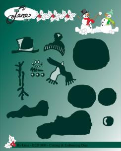 by  Lene - Dies - Snowmen in snowfight - by  Lene - Dies - Snowmen in snowfight