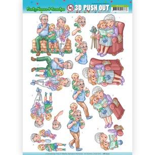 Yvonne Creation 3D Utstansat - Funky Nanna´s - With the Grandchilds - Yvonne Creation 3D Utstansat - Funky Nanna´s - With the Grandchilds