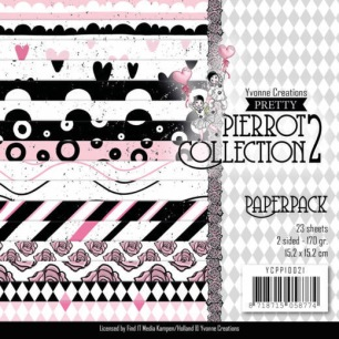 Yvonne Creations Pappersblock - Pretty Pierrot 2 - Yvonne Creations Pappersblock - Pretty Pierrot 2
