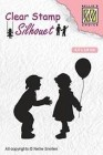 Nellie Snellen - Clearstamps - Children with balloon