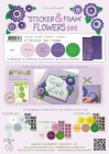 Leane - Sticker & Foam Flowers Set 1 Violet