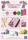 Leane - Sticker & Foam Flowers Set 3 Bordeaux/Pink