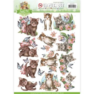 Amy Design 3D Utstansat - Sweet Pet-Cats - Amy Design 3D Utstansat - Sweet Pet-Cats