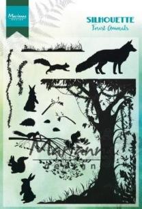 Marianne Design Clearstamp - Silhouette Forrest Animals - Marianne Design Clearstamp - Silhouette Forrest Animals