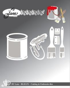by Lene - Dies - Bucket & Brushes - by Lene - Dies - Bucket & Brushes