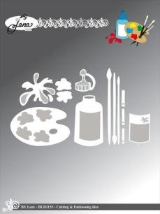 by Lene - Dies - Palette & Brushes - by Lene - Dies - Palette & Brushes