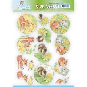 Jeaninés Art 3D Utstansat - Young Animals - Duck and Rabbits - Jeaninés Art 3D Utstansat - Young Animals - Duck and Rabbits