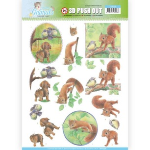 Jeaninés Art 3D Utstansat - Young Animals - In the Forest - Jeaninés Art 3D Utstansat - Young Animals - In the Forest