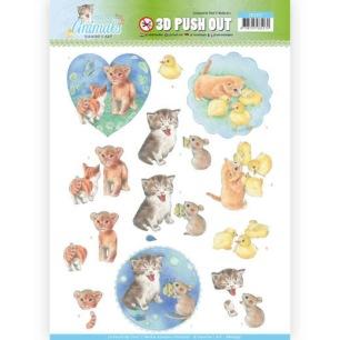 Jeaninés Art 3D Utstansat - Young Animals - Kittens - Jeaninés Art 3D Utstansat - Young Animals - Kittens