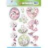 Jeaninés Art 3D Utstansat - Young Animals - Cuties in Purple - Jeaninés Art 3D Utstansat - Young Animals - Cuties in Purple