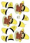Dan design 3D Klippark - Apa i gul hatt
