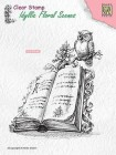 Nellie Snellen - Clearstamps - Book with owl