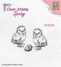 Nellie Snellen - Clearstamps - Chicken and easter egg