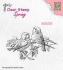 Nellie Snellen - Clearstamps - Two birds