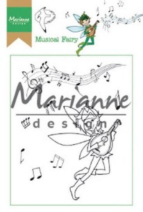 Marianne Design Clearstamp - Hetty´s Musical Fairy - Marianne Design Clearstamp - Hetty´s Musical Fairy