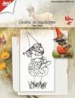 Joy Crafts - Clearstamp - Gnome on mushroom
