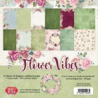 Craft & You - Dubbelsidigt papper - Flower Vibes 30x30 cm