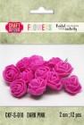 Craft & You - Fuchsia foam roses - Dark Pink