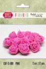 Craft & You - Fuchsia foam roses - Pink