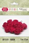 Craft & You - Fuchsia foam roses - Fuchsia