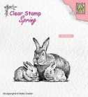 Nellie Snellen - Clearstamps - Rabbit family